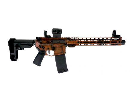 "PSA Custom Billet ""Orange Battle Worn"" 10.5"" CHF 5.56 NATO Pistol, 3.5lb Flat FCG, Romeo 5"