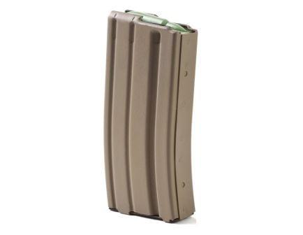 ASC AR-15 .223/5.56mm 20rd Capacity Aluminum Flat Dark Earth Magazine w/ Green Follower