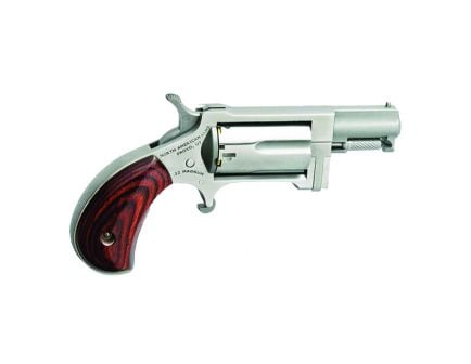 North American Arms Sidewinder 22 Magnum 5rd Single Action Revolver, Stainless W/Wood Grips