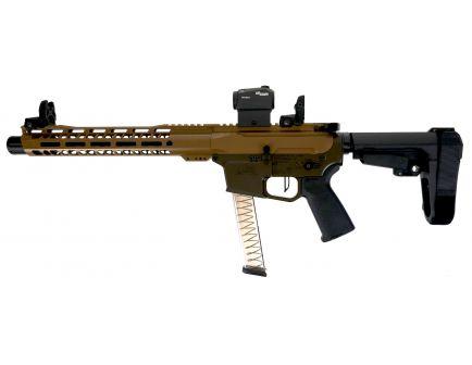 "PSA Custom 10'"" PX-9 9mm Pistol, 12"" MLOK, 3.5lb Flat FCG, Ambi Safety, SBA3 -  Coyote/ODG"