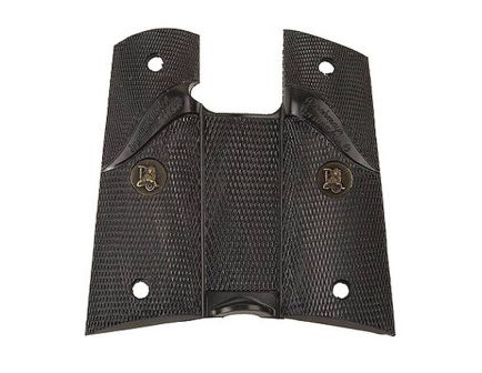 Pachmayr Double Diamond Checkered Signature Grip for 1911 Commander, Black - GM_G