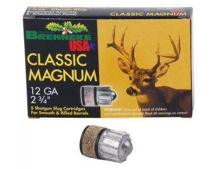 "Brenneke USA Classic Magnum 12 Gauge 2.75"" Shotgun Slug, 5/box - SL-122CLM"