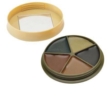 HME 5-Color Face Paint Kit w/ Mirror, Camo Case Cover - HME-CMOFP5