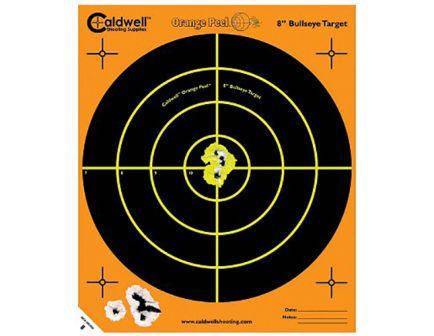 "Caldwell Orange Peel 12"" Self-Adhesive Bullseye Shooting Target, Orange/Black, 5 Sheets/pack - 120556"
