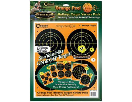 "Caldwell Orange Peel 4"" Self-Adhesive Bullseye Shooting Target, Orange/Black, 10 Sheets/pack - 410864"