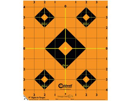 "Caldwell Orange Peel 12"" Self-Adhesive Sight-In Shooting Target, Orange/Black, 5 Sheets/pack - 244561"