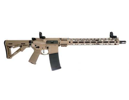 "PSA Custom ""Tanned"" 5.56 NATO 16"" Rifle 15"" MLOK  w/ Ambi Safety, MBUS, & 3.5 lb Flat FCG"