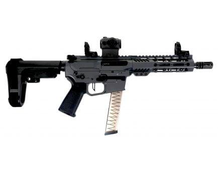 "PSA Custom 8'"" PX-9 9mm Pistol, 7"" MLOK, 3.5lb Flat FCG, Ambi Safety, Romeo 5 -  Grey"