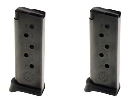 Ruger LCP .380 ACP 6 Round Magazine, Set of 2 - 90643