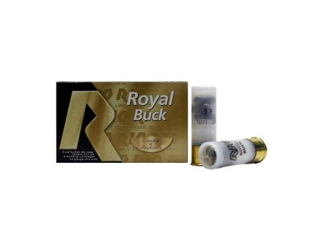 "Rio Royal Buck 12ga 2.75"" 00 Shotshell Ammunition, 5 Round Box - RB129"