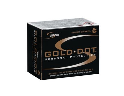 Speer  45 Auto  Gold Dot HPSB 230gr Ammunition 20 Rounds - 23975