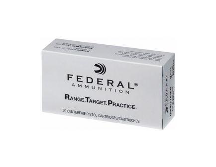 Federal 9mm 115gr FMJ Range Target Practice Ammunition, 50 Round Box