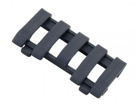 Ergo Low Pro 5 Slot Wire Loom Rail Covers in Black