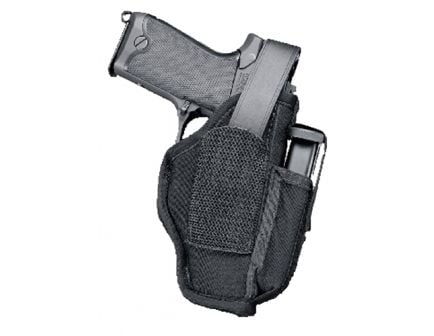 Uncle Mike's Size 15 Ambidextrous Hand Sidekick Hip Holster w/ Mag Pouch, Textured Black - 70150