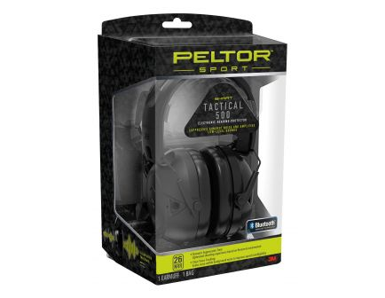 3M Peltor 26 dB Foldable and Adjustable Electronic Hearing Protector, Black - TAC500OTH