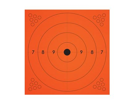 Champion ADHESIVE TARGET 13X13 ORANGE 10PK 45775