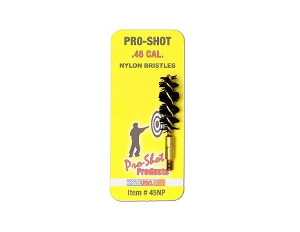 Pro-Shot .45 Cal. Nylon Bristle Pistol Brush  45NP