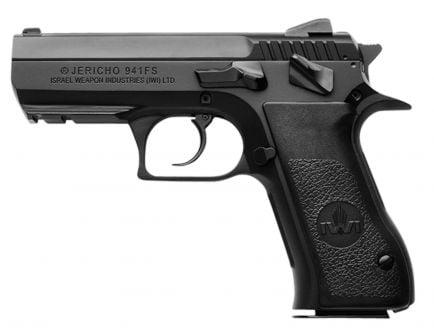 IWI Jericho 941 FS9 Mid-Size 9mm Parabellum 16 Round Semi Auto Short Recoil Operated Pistol, Black - J941FS9