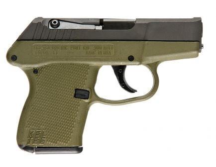 Kel-tec P3AT .380 ACP Pistol, Green - P3ATPKGRN