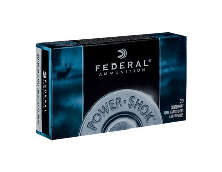 Federal 30-30 Win 125gr Hollow Point Power-Shok Ammunition, 20 Rounds - 3030C