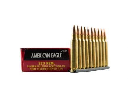 American Eagle 223 55gr FMJBT Ammunition 30rds - AE223AF