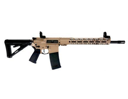 "PSA Custom 16"" 5.56 NATO  Rifle 12"" MLOK w/Ambi Safety, 3.5lb Flat FCG, MBUS - Black & Tan"