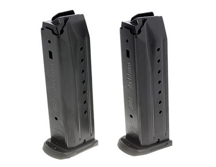 Ruger Magazine: 9mm: SR9/SR9C 17rd Capacity Twin Pack (2 Magazines) - 90449