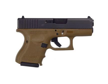 Glock 26 Gen 4 9mm Pistol, Flat Dark Earth Frame