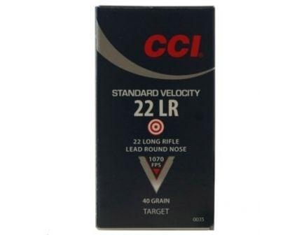 CCI .22 Long Rifle 40gr LRN Standard Velocity Ammunition 500rds (10 Boxes of 50) - 50035