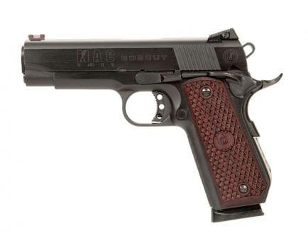 "MAC 1911 Bobcut .45 ACP 4.25"" Pistol w/ Hardwood Grips, Deep Blue"