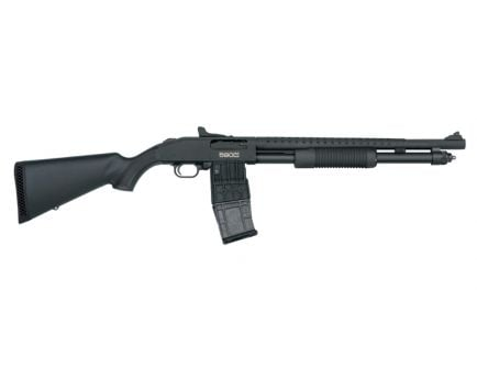 """Mossberg 590M 18.5"""" 12ga 2.75"""" Mag-Fed Pump Action Shotgun with Ghost Rings Sights - 50206"""