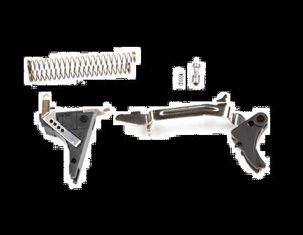 ZEV Tech Adjustable Fulcrum Drop-In Trigger Kit, Fits Glock Gen 4 9mm, Blk/Blk - FUL-DRP-4G9-B-B