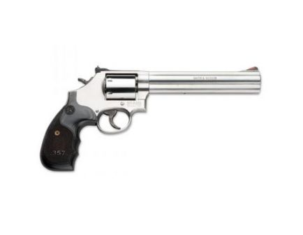 S&W Model 686 Plus 357 Mag. / 38 S&W Special +P Revolver, Silver w/ Black Grips - 150855