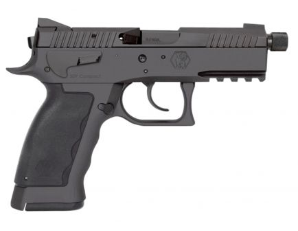 Kriss Sphinx SDP Compact Duty Black 9mm Parabellum 17 Round Hammer Fire Pistol, Hardcoat Anodized Black - WSDCM-E086