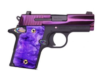 Sig Sauer 938 9mm Pistol with Night Sights, Purple - 938-9-PSP-ambi