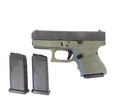 Glock 26 Gen 4 9mm Pistol, (Battlefield Green) - 2 Magazines