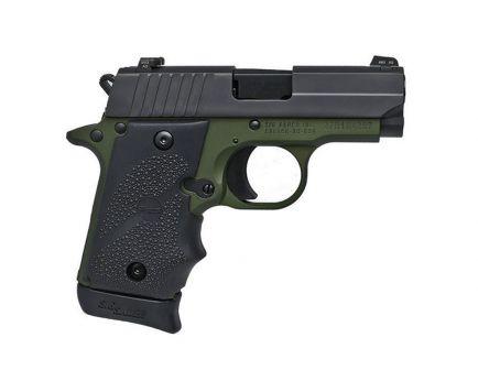 Sig Sauer P938 Siglite Night Sights 9mm Pistol, Army Green