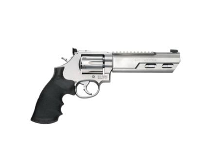 """Smith & Wesson Performance Center Model 686 Competitor 6"""" Weighted Barrel Large .357 Mag/.38 S&W Spl +P Revolver, Matte Silver - 170319"""
