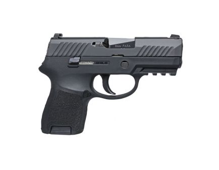 Sig Sauer P320 Nitron Subcomact 9mm Pistol w/ Night Sights & Rail, Black