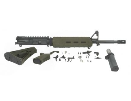 "Image containing parts included in an ar 15 moe kit with a PSA 16"" 5.56 upper."