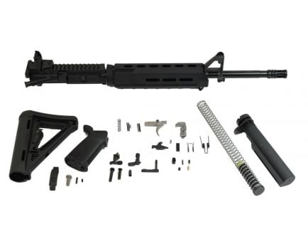 "PSA 16"" midlength magpul ar15 kit with black moe hand guard."