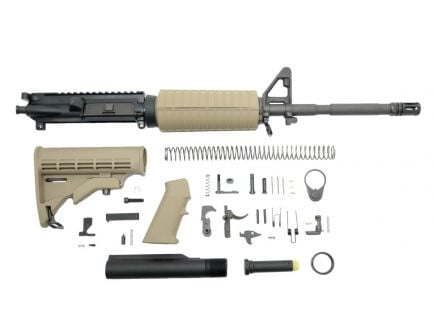 "PSA PSA 16"" Carbine-Length 5.56 NATO 1/7 Phos M4 Classic Rifle Kit, FDE"