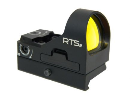 C-More RTS2 8MOA Red Dot Sight w/ Rail Mount, Black - RTS2RB-8
