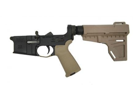 BLEM PSA AR-15 Complete MOE Shockwave Pistol Lower, FDE