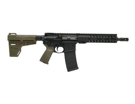 """PSA 10.5"""" Carbine-Length 5.56 NATO 1/7 Phosphate M-Lok MOE Shockwave Pistol, Olive Drab Green - 516447185"""