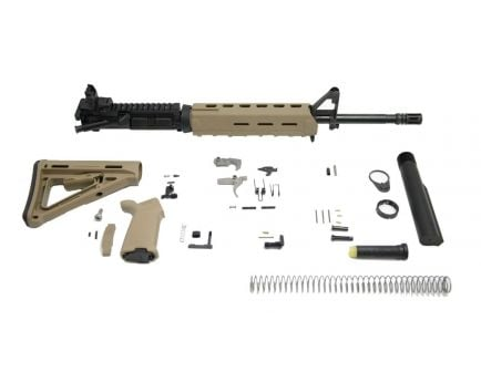 "PSA 16"" Midlength Nitride 5.56 NATO 1:7 MOE EPT Freedom Rifle Kit with Rear MBUS, Flat Dark Earth"
