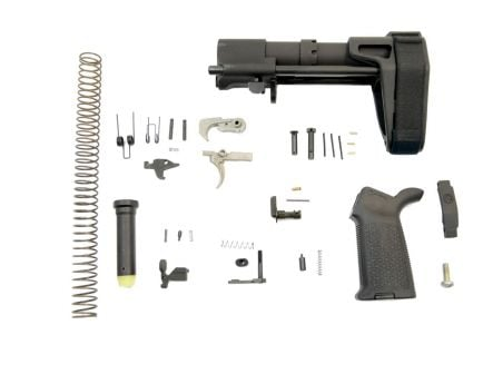 psa moe ept pistol lower build kit with sb tactical pdw brace in black