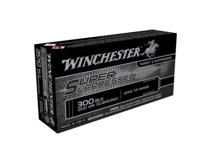 Winchester .300 AAC Blackout 200 gr Super Suppressed Subsonic Ammunition, 20 Rounds - SUP300BLK
