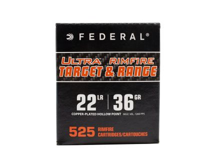 Federal 22LR 36gr CPHP 525 Round Copper Coated Hollow Point Bulk Ammo Pack - UTR2236
