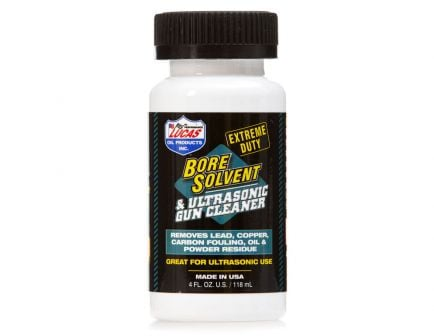 Lucas Oil Extreme Duty Bore Solvent & Ultrasonic Gun Cleaner 4oz Bottle - 10907